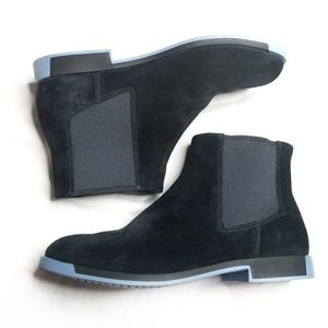 Camper Blue Suede Ankle Boots size 38
